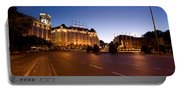 Plaza De Neptuno And Palace Hotel Portable Battery Charger