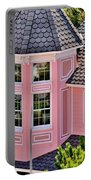 Beautiful Pink Turret - Boardwalk Plaza Hotel Annex - Rehoboth Beach Delaware Portable Battery Charger