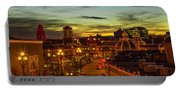 Plaza Lights At Sunset Portable Battery Charger
