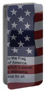 Pledge Of Allegiance Portable Battery Charger