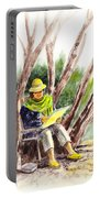 Plein Air Artist At Work Portable Battery Charger by Irina Sztukowski