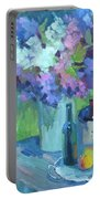 Plein Air Lilacs Portable Battery Charger