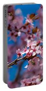 Plum Flowers And Honey Bee Portable Battery Charger
