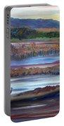 Plum Island Salt Marsh Sunset Portable Battery Charger
