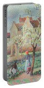Plum Trees In Flower Portable Battery Charger