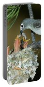 Plumbeous Vireo Feeding Worm To Chicks Portable Battery Charger