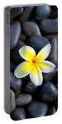 Plumeria Pebbles Portable Battery Charger