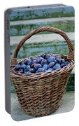 Plums In A Basket, Southern Bohemia Portable Battery Charger