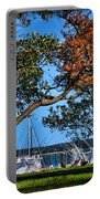 Plymouth Harbor In Autumn Portable Battery Charger