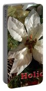 Poinsetta Christmas Card Portable Battery Charger