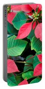 Poinsettia Flowers Portable Battery Charger
