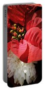 Poinsettia In Bloom Portable Battery Charger