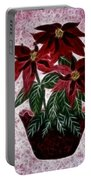 Poinsettias Expressive Brushstrokes Portable Battery Charger