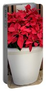 Poinsettias In A Planter Portable Battery Charger