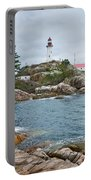 Point Atkinson Lighthouse And Rocky Shore Portable Battery Charger