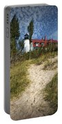 Point Betsie Lighthouse On Lake Michigan Portable Battery Charger