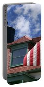 Point Betsie Lighthouse With Flag Portable Battery Charger