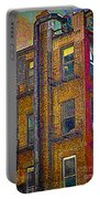 Pointillism In Steel And Brick Portable Battery Charger