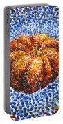 Pointillism Pumpkin Portable Battery Charger