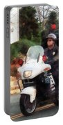 Police - Motorcycle Cop On Patrol Portable Battery Charger