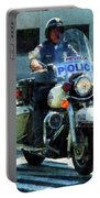 Police - Motorcycle Cop Portable Battery Charger
