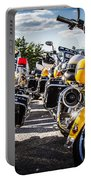 Police Motorcycle Lineup Portable Battery Charger