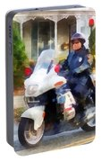 Police - Suburban Motorcycle Cop Portable Battery Charger