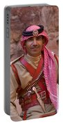 Policeman In Petra Jordan Portable Battery Charger by David Smith