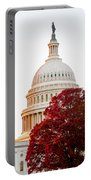 Politics Seeing Red Portable Battery Charger by Greg Fortier