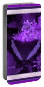 Polka Dot Butterfly Purple Portable Battery Charger