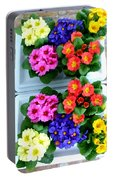 Polyanthus Primroses Portable Battery Charger