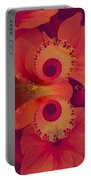 Polyanthus Spiral Portable Battery Charger by Nancy Pauling
