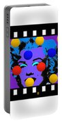 Polychrome Girl  Portable Battery Charger