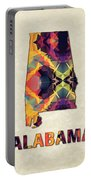 Polygon Mosaic Parchment Map Alabama Portable Battery Charger