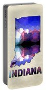 Polygon Mosaic Parchment Map Indiana Portable Battery Charger