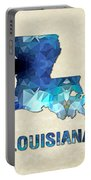 Polygon Mosaic Parchment Map Louisiana Portable Battery Charger