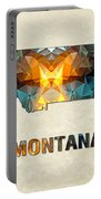 Polygon Mosaic Parchment Map Montana Portable Battery Charger