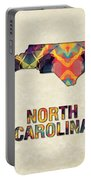 Polygon Mosaic Parchment Map North Carolina Portable Battery Charger