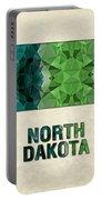 Polygon Mosaic Parchment Map North Dakota Portable Battery Charger