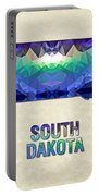Polygon Mosaic Parchment Map South Dakota Portable Battery Charger