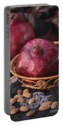 Pomegranates And Almonds Portable Battery Charger