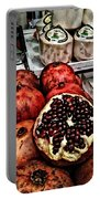 Pomegranates In Open Market Art II Portable Battery Charger