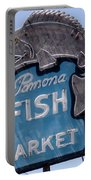 Pomona Fish Market Sign Portable Battery Charger