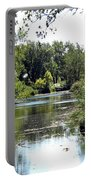Pond At Tifft Nature Preserve Buffalo New York  Portable Battery Charger