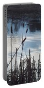 Pond At Twilight Portable Battery Charger