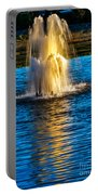 Pond Fountain Portable Battery Charger by Robert Bales