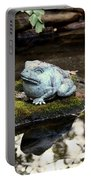 Pond Frog Statuette Portable Battery Charger