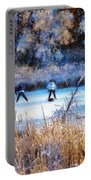 Pond Hockey - Painterly Portable Battery Charger
