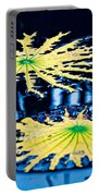 Pond Lily Pad Abstract Portable Battery Charger