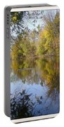 Pond Reflection At Limehouse Ontario Portable Battery Charger